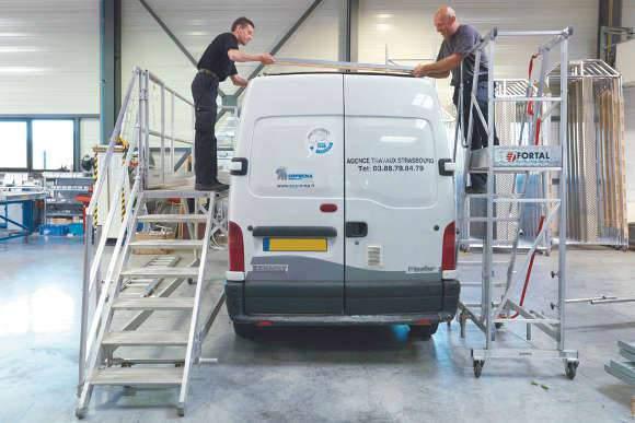 Am nagement fourgon et utilitaire galerie de toit for Amenagement interieur vehicule utilitaire