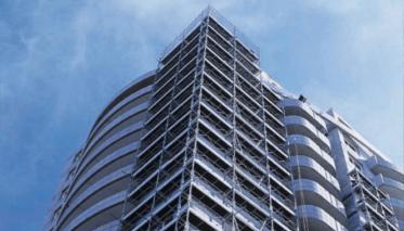 Echafaudages de façades, façadier