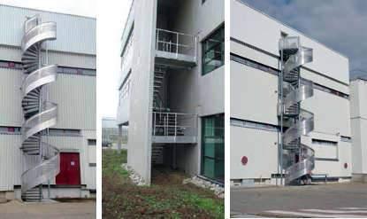 Fabricant d'escalier d'immeuble sur mesure en Alsace en aluminium ou acier