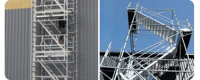 Tour escalier roulante d'accès en hauteur