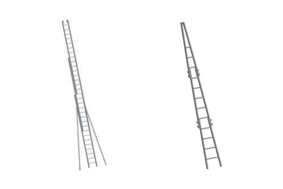 Echelle spécifique pour laveur de vitre et pompier