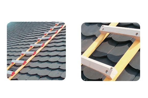 Echelle d'accès au toit