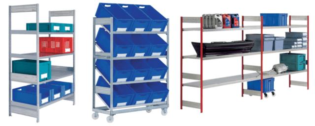 Etagères et rayonnage pour stockage du matériel