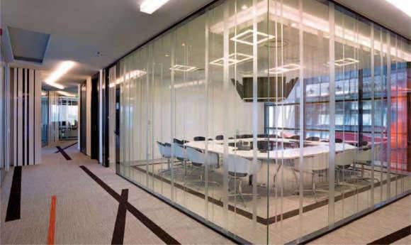 Cloisons vitrées pour salle de réunion