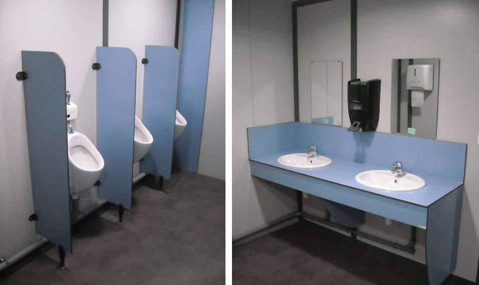 Cloison et cabine sanitaire