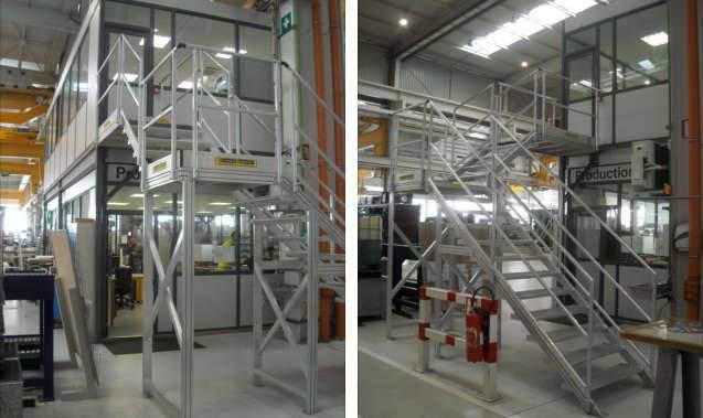 Escalier intérieur en aluminium sur mesure en Alsace