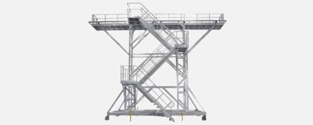 Fabrication de passerelle mobile d'accès sur mesure en Alsace