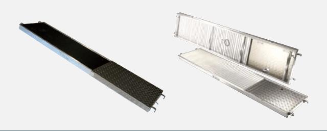 Plancher d'échafaudage en aluminium et en bois