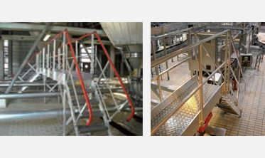 Plateforme d'accès en aluminium pour l'industrie