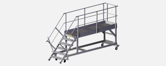 Plateforme rampe d'accès aux bennes à déchets