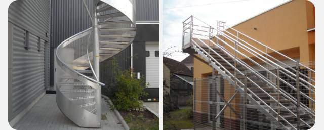 Fabrication d'escalier sur mesure en aluminium